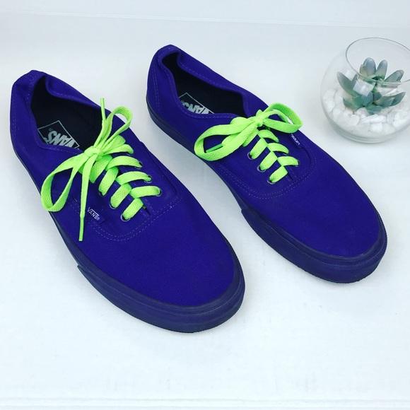 40fc836a37 VANS men s size 13 purple green laces shoes. M 5b215b693c9844c099271b1f